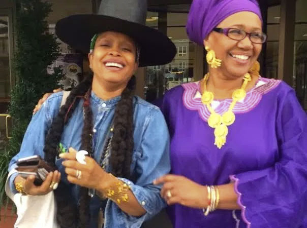 Erykah Badu with Shafia Monroe