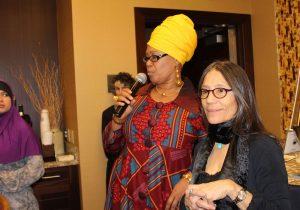 Shafia Monroe leading a cross cultural training discussion