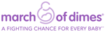 March of Dimes, a fighting chance for every baby, logo