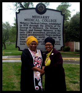Ayanna and Shafia Monroe at Meharry Medical College