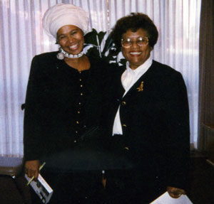 Shafia Monroe and Surgeon General Joycelyn Elders