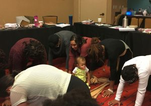 Doulas in training with toddler