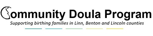 Community Doula program logo, serving families in Linn, Benton and Lincoln Counties