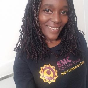SMC Full Circle Doula Birth Companion Training shirt with colorful logo